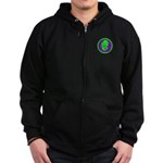 Green & Purple Buddah Zip Hoodie (dark)