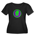 Green & Purple Buddah Women's Plus Size Scoop Neck