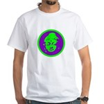 Green & Purple Buddah White T-Shirt