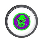 Green & Purple Buddah Wall Clock