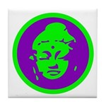 Green & Purple Buddah Tile Coaster