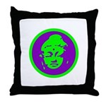 Green & Purple Buddah Throw Pillow