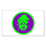 Green & Purple Buddah Rectangle Sticker 50 pk)