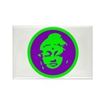 Green & Purple Buddah Rectangle Magnet (10 pack)