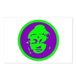 Green & Purple Buddah Postcards (Package of 8)