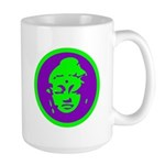 Green & Purple Buddah Large Mug