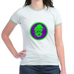 Green & Purple Buddah Jr. Ringer T-Shirt