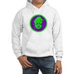 Green & Purple Buddah Hooded Sweatshirt