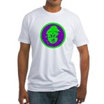 Green & Purple Buddah Fitted T-Shirt