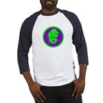 Green & Purple Buddah Baseball Jersey