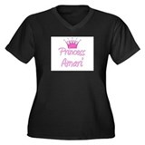 Princess Amari Women's Plus Size V-Neck Dark T-Shi