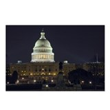 Capitol Hill at Night Postcards (Package of 8)