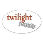Twilight Junkie Oval Sticker (10 pk)