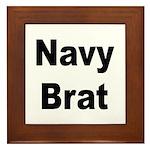 Navy Brat Framed Tile