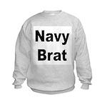 Navy Brat (Front) Kids Sweatshirt
