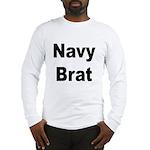 Navy Brat (Front) Long Sleeve T-Shirt