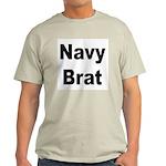 Navy Brat (Front) Ash Grey T-Shirt