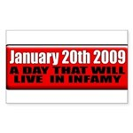 Inauguration 2009 Rectangle Sticker 50 pk)