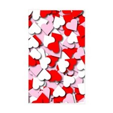 Confetti Hearts Rectangle Sticker 50 pk)