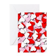 Confetti Hearts Greeting Card