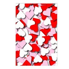 Confetti Hearts Postcards (Package of 8)