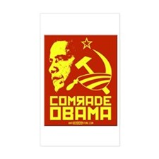 Comrade Obama Rectangle Decal