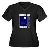 With the Wolves Women's Plus Size V-Neck Dark T-Sh
