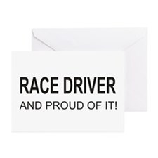 Proud Race Driver Greeting Cards (Pk of 10)