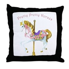 Carousel Horse Throw Pillow