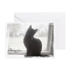 """Thinking of You Tabby"" Greeting Card"