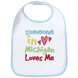 Someone in Michigan Loves Me Bib