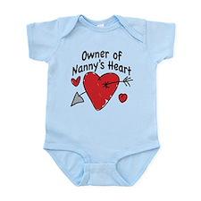 OWNER OF NANNY'S HEART Infant Bodysuit