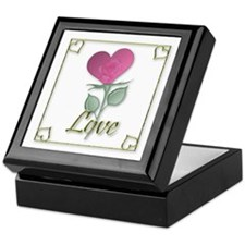 """Love"" (white) Keepsake Box"