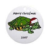 Santa Turtle Ornament