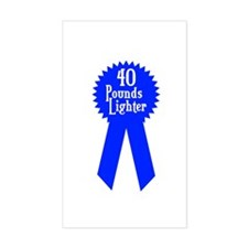 40 Pounds Award Rectangle Decal