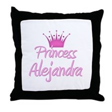 Princess Alejandra Throw Pillow