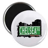 "CHELSEA SQUARE, MANHATTAN, NYC 2.25"" Magnet (100 p"
