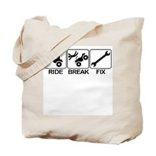 ATV, Ride, Break, Fix. ATV Tote Bag