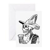 Calavera con Cerveza Greeting Card
