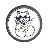 Longhair ASL Kitty Wall Clock
