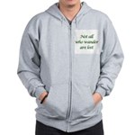 Not All Who Wander Zip Hoodie