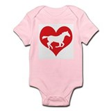 Cute Heart horses Onesie
