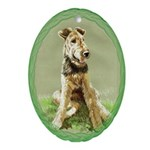 Airedale Oval Ornament