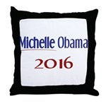 Michelle Obama 2016 Throw Pillow