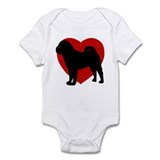 Shar Pei Valentine's Day Infant Bodysuit