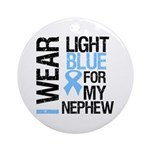 IWearLightBlue Nephew Ornament (Round)