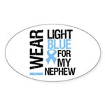 IWearLightBlue Nephew Oval Sticker (10 pk)