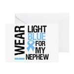 IWearLightBlue Nephew Greeting Cards (Pk of 10)