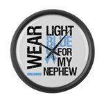 IWearLightBlue Nephew Large Wall Clock