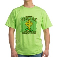 Veritas Aequitas with Celtic Cross T-Shirt